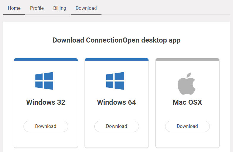 Download ConnectionOpen Client Application